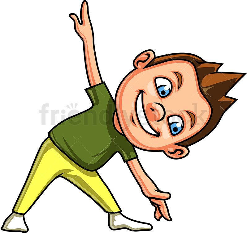 Boy brown eyes clipart vector download Little Boy Doing Triangle Yoga Pose | Kids Clipart | Kids vector ... vector download