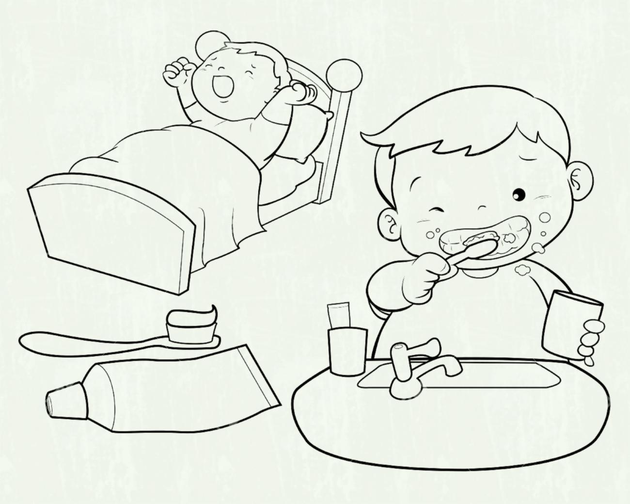 Boy brushing teeth clipart black and white jpg freeuse Boy Brushing Teeth Clipart (98+ images in Collection) Page 1 jpg freeuse