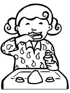 Boy brushing teeth clipart black and white vector freeuse Child brushing teeth clipart black and white 8 » Clipart Portal vector freeuse