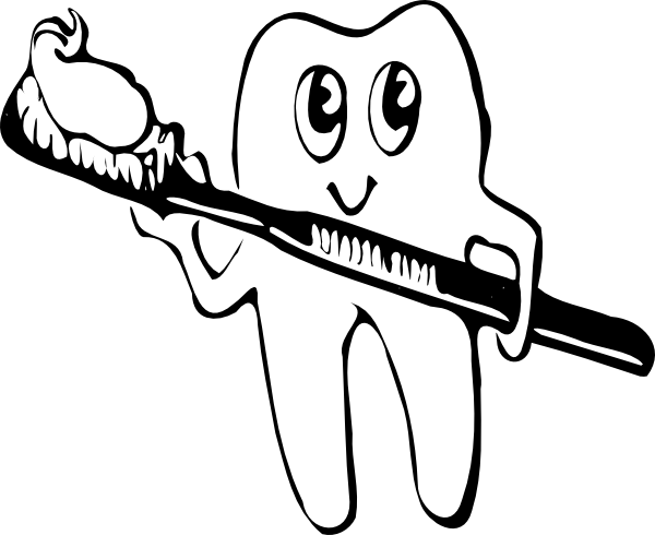 Boy brushing teeth clipart black and white picture black and white download Free Brushing Teeth Cliparts, Download Free Clip Art, Free Clip Art ... picture black and white download