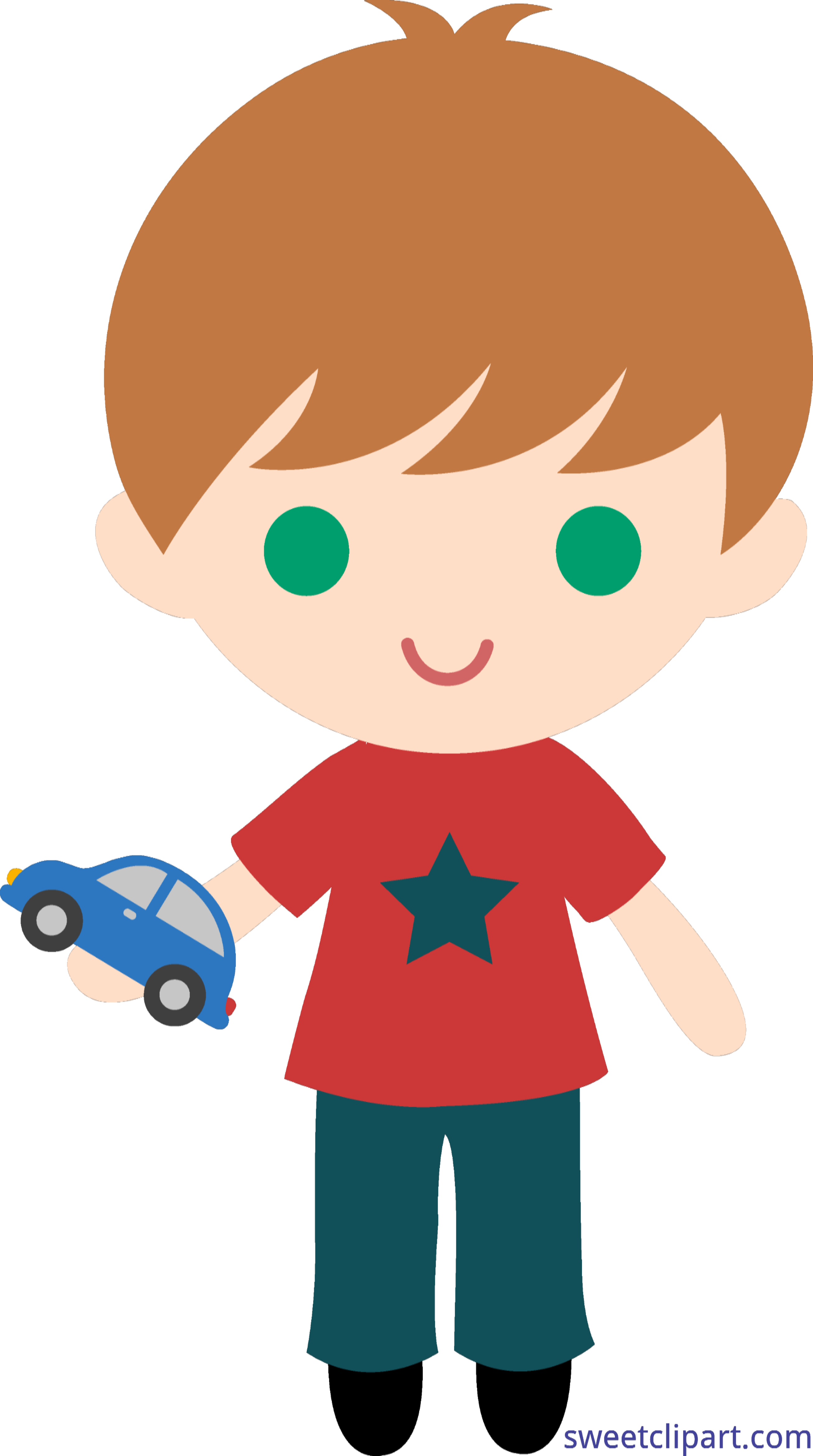 Boy car clipart banner library stock Boy With Toy Car By Liz Clip Art - Sweet Clip Art banner library stock