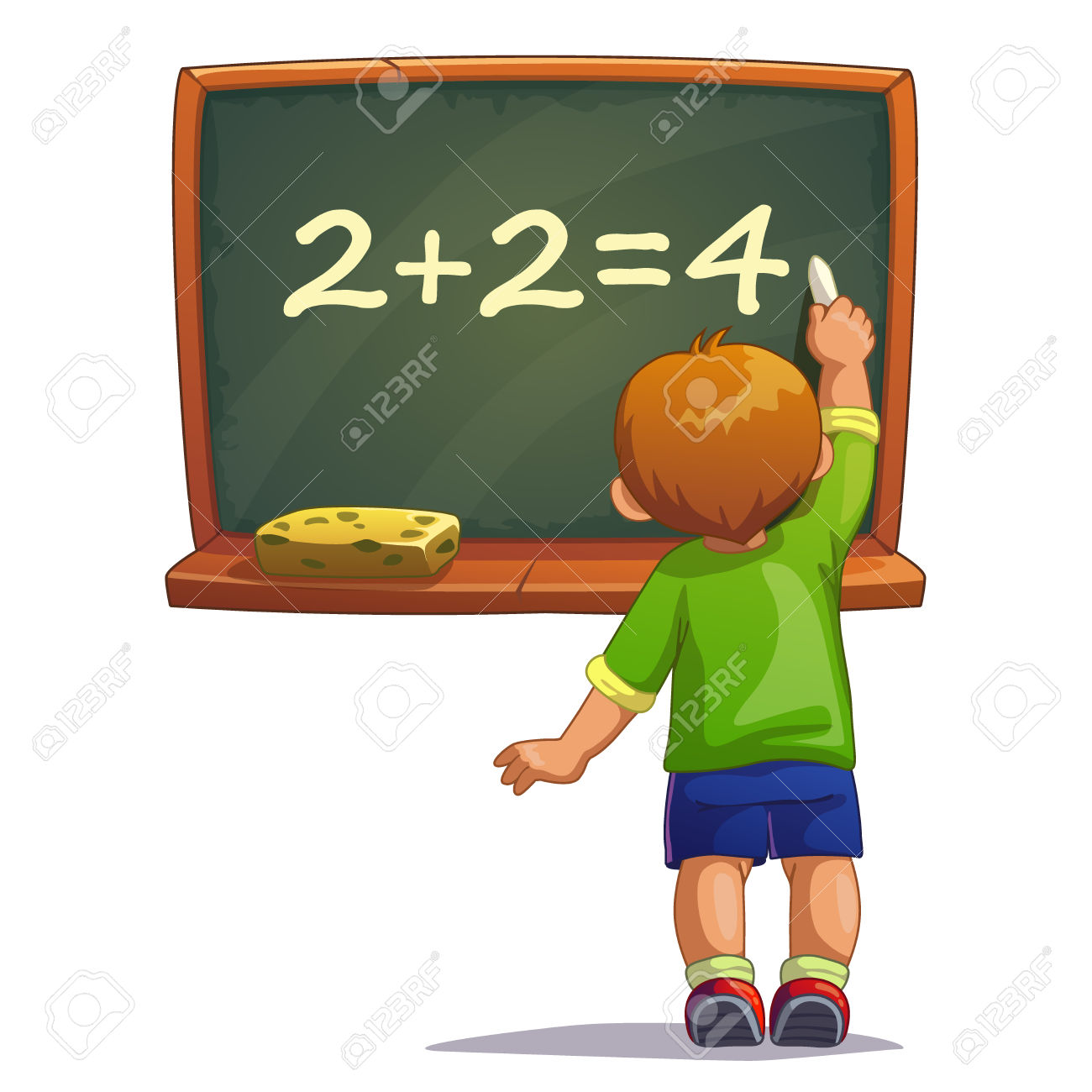 Boy chalkboard clipart jpg black and white Clipart animated teacher writing on the board with chalk - ClipartFest jpg black and white