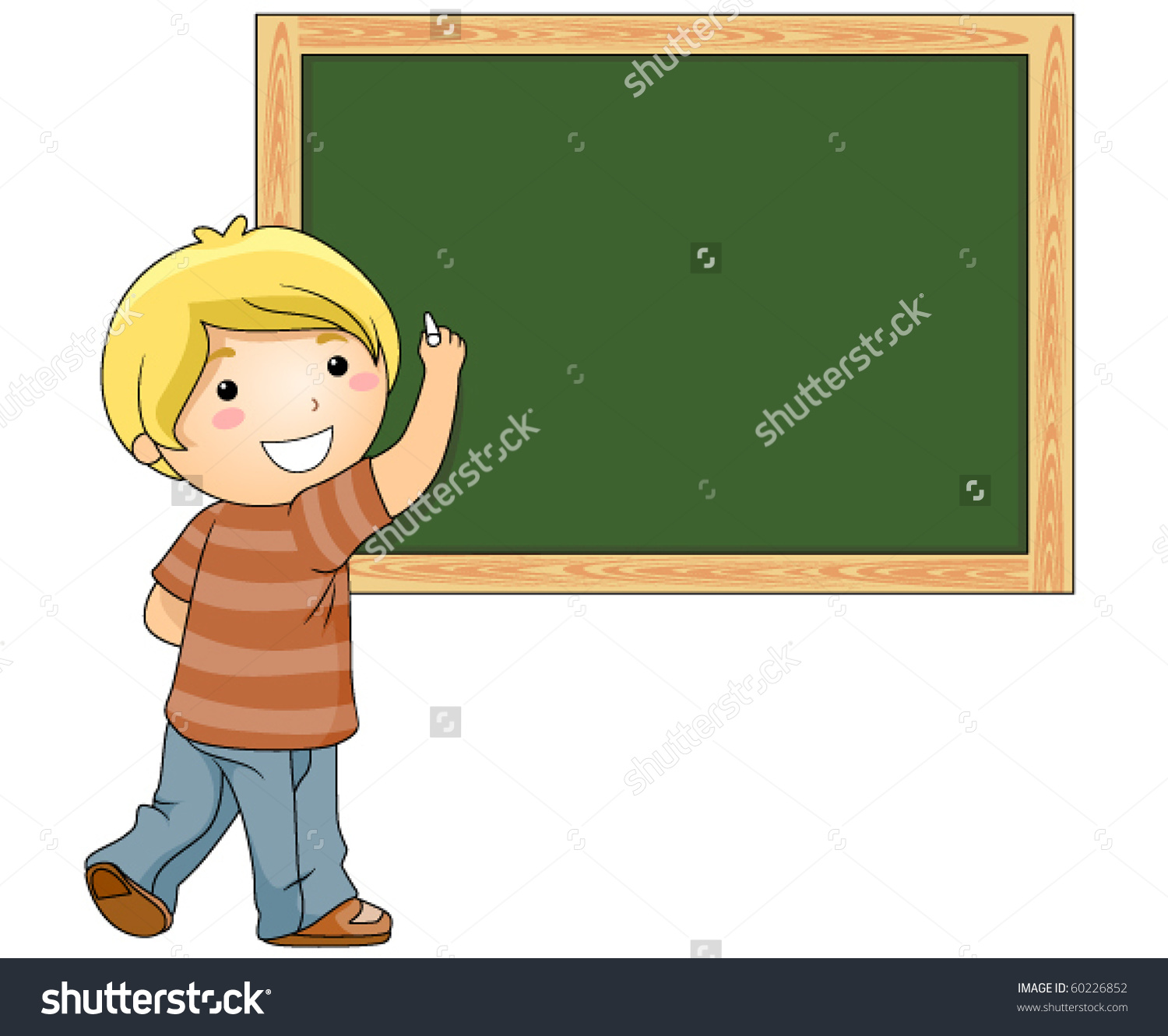Boy chalkboard clipart clip transparent Beaming Boy Writing Something On Blackboard Stock Vector 60226852 ... clip transparent