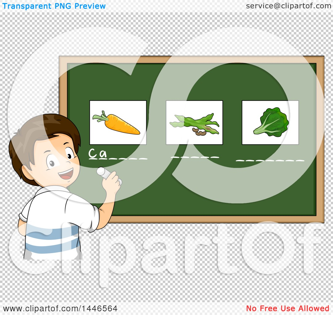 Boy chalkboard clipart transparent download Clipart of a Happy Brunette White School Boy Writing the Names ... transparent download
