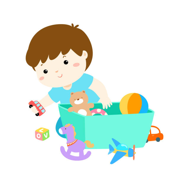 Boy clean up toys clipart picture transparent download Top 60 Cleaning Up Toys Clip Art Vector Graphics And Illustrations ... picture transparent download