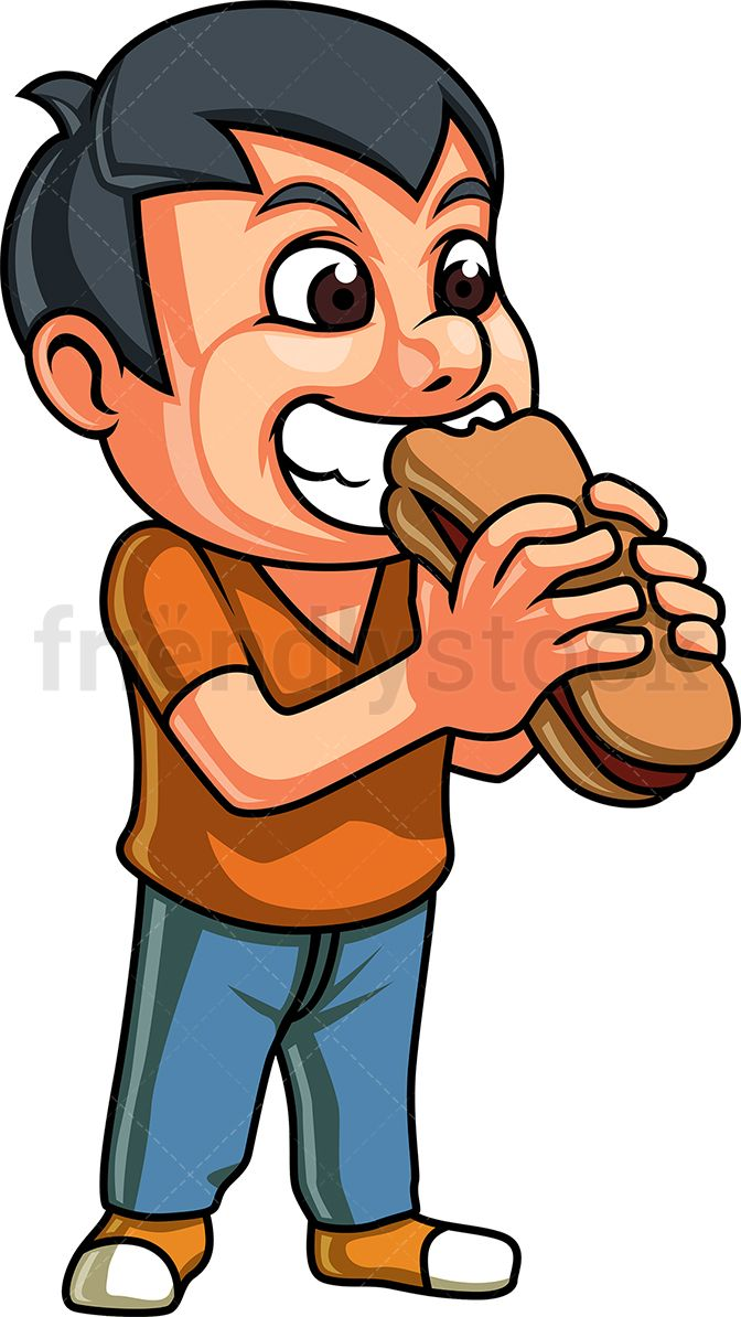 Boy curley hair feeding a dog clipart images royalty free download Little Boy Eating Hot Dog Sandwich | Food & Drink Clipart in 2019 ... royalty free download