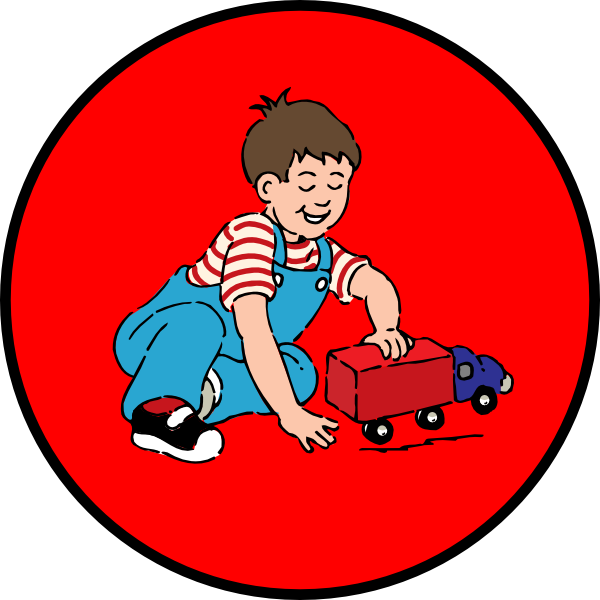 Boy driving car clipart png library library Little Boy Playing With Car In Red Circle Clip Art at Clker.com ... png library library
