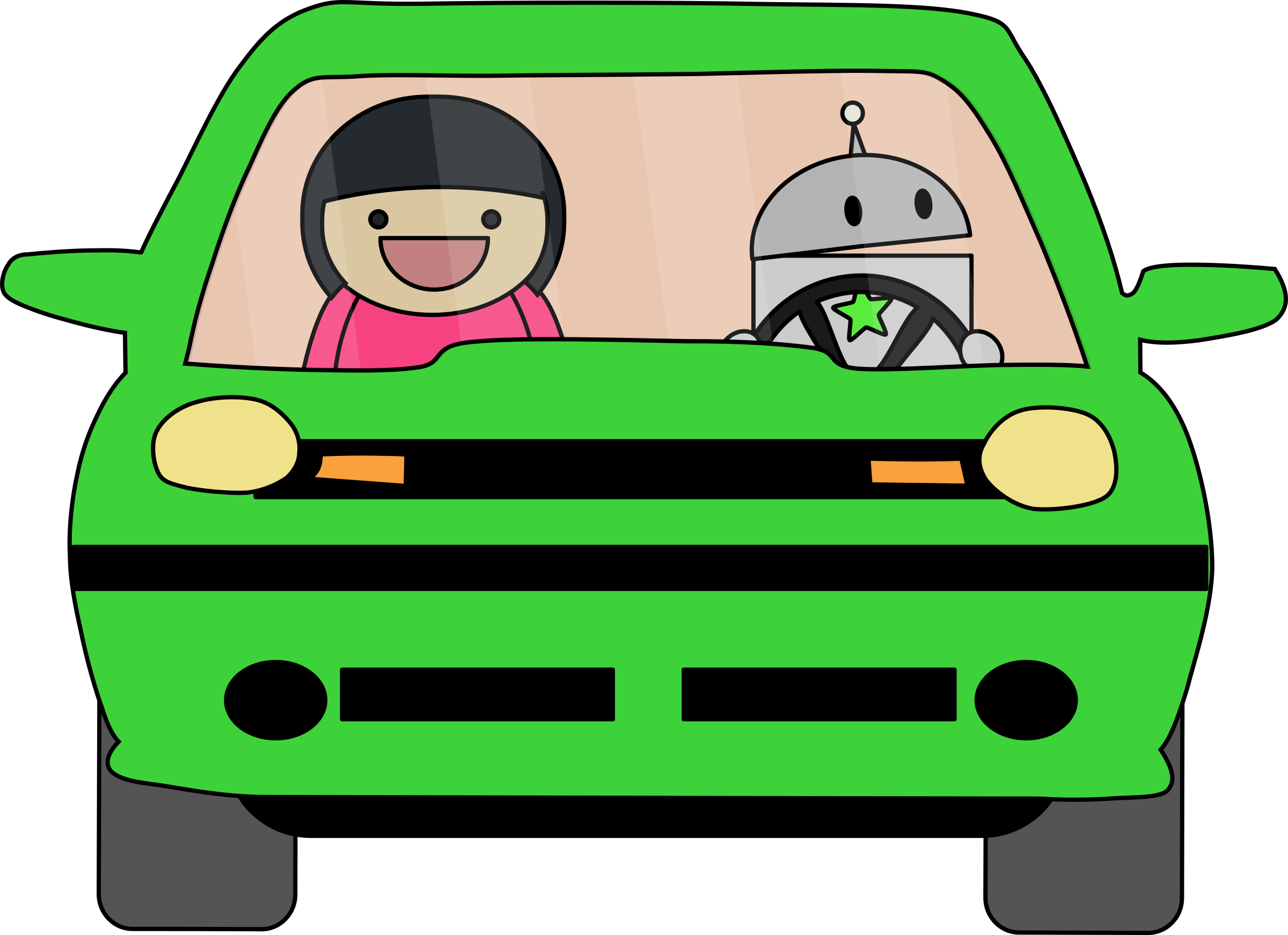 Girl driving car clipart banner freeuse stock Robot Driving Icons PNG - Free PNG and Icons Downloads banner freeuse stock