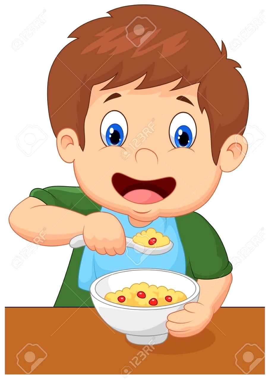 Boy eating breakfast clipart vector library library Boy eating breakfast clipart 3 » Clipart Station vector library library