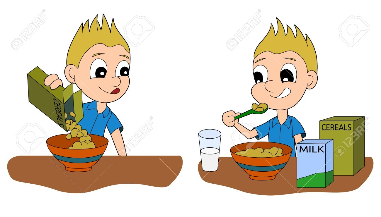 Boy eating breakfast clipart clipart download Boy Eating Breakfast Clipart Free Clip Art Images - Free Clipart clipart download
