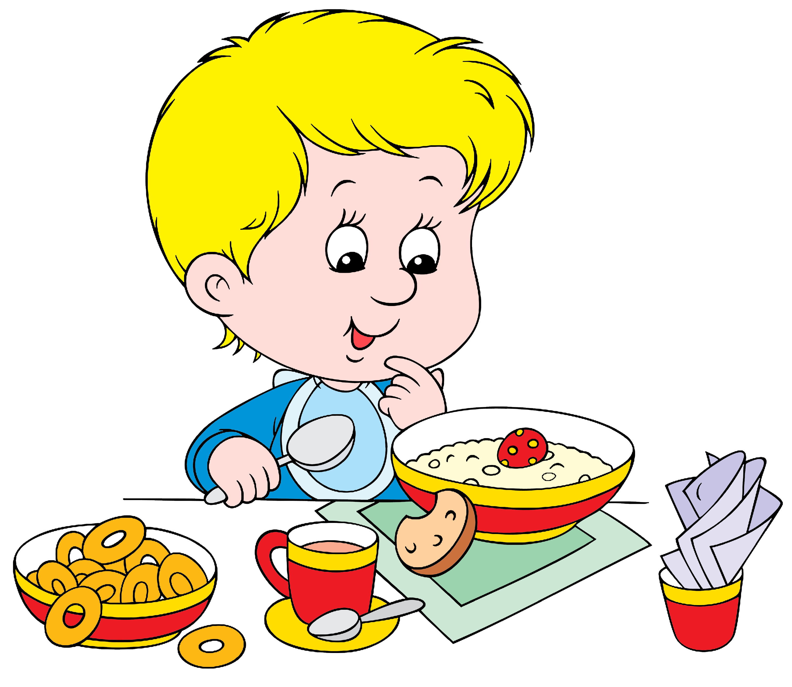 Recipe for raising children cliparts png library library boy eating breakfast clipart - Google Търсене | Klipart | Health ... png library library