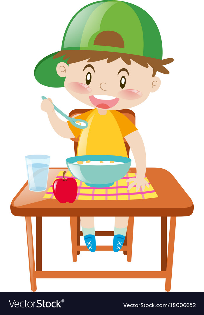 Boy eating breakfast clipart vector freeuse stock Boy eating breakfast clipart 5 » Clipart Station vector freeuse stock