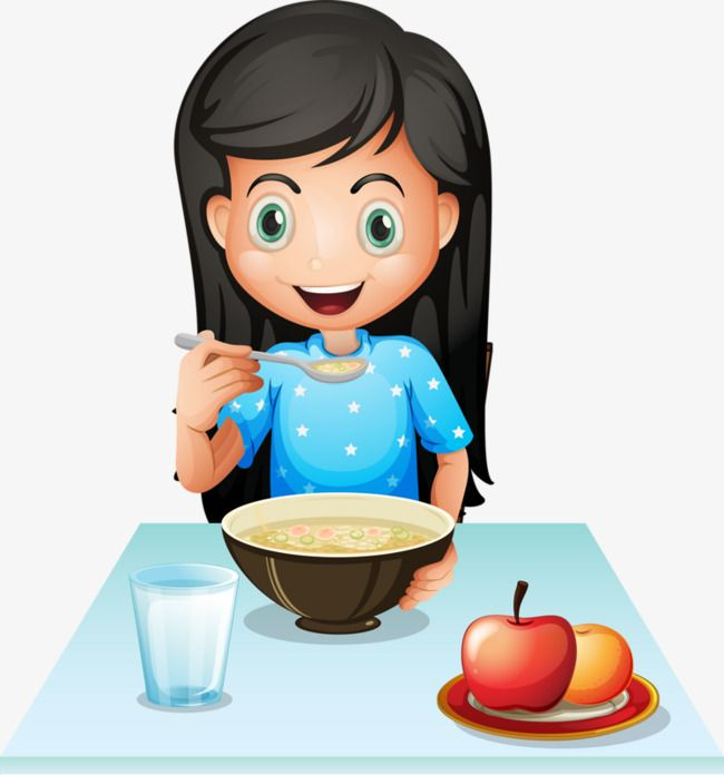 To eat breakfast clipart image freeuse library Girl Eating Breakfast, Breakfast Clipart, Apple, Porridge PNG ... image freeuse library