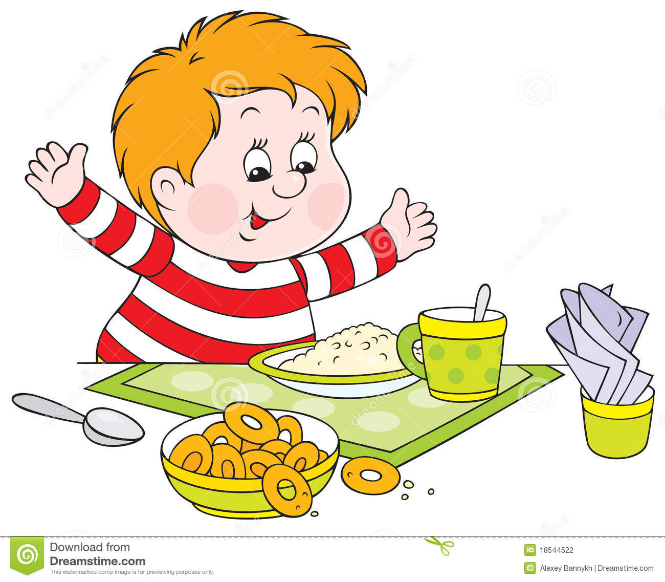 Boy eating breakfast clipart image free 7+ Eating Breakfast Clipart | ClipartLook image free