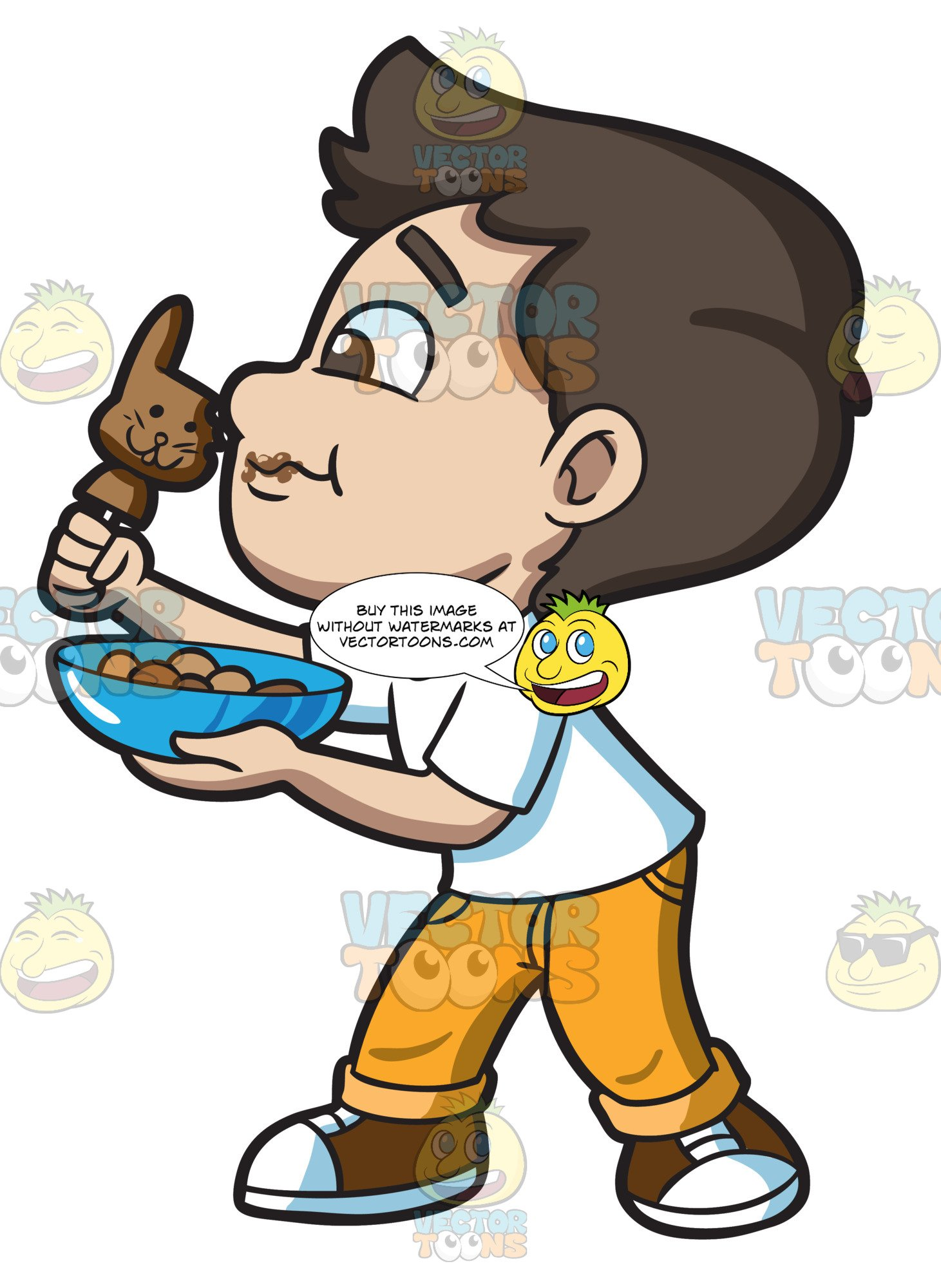 Boy eating candy clipart free download A Boy Eating Some Chocolate Easter Bunny free download