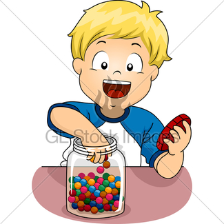Boy eating candy clipart picture freeuse library Boy Eating Candy · GL Stock Images picture freeuse library