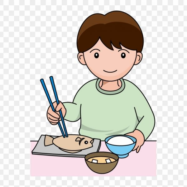 Boy eating dinner clipart svg transparent library Eating Dinner Clipart – 夕食 イラスト – Free Transparent Png Clipart ... svg transparent library