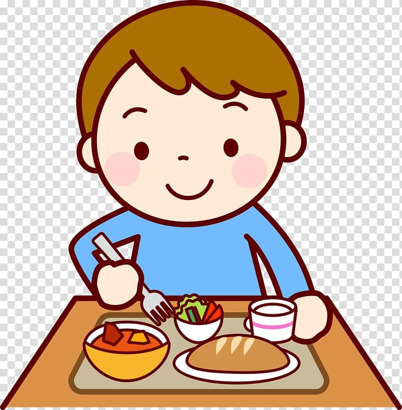 Boy eating dinner clipart banner freeuse download Food Eating Lunch Child , child transparent background PNG clipart ... banner freeuse download