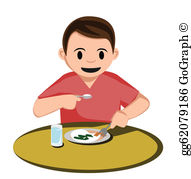 Boy eating dinner clipart svg library download Eat Dinner Clip Art - Royalty Free - GoGraph svg library download