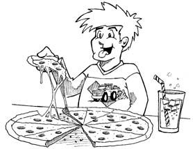 Boy eating pizza black and white clipart graphic free Free Eating Pizza Cliparts, Download Free Clip Art, Free Clip Art on ... graphic free