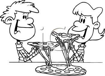 Boy eating pizza black and white clipart jpg freeuse library Free Cartoon Eating Pizza, Download Free Clip Art, Free Clip Art on ... jpg freeuse library