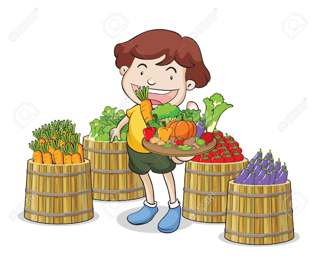 Buying fruits cliparts picture free download Child eating vegetables clipart 3 » Clipart Station picture free download