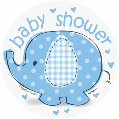 Boy elephant baby shower clipart svg black and white library Umbrellaphants Blue Mini Cutouts for an elephant boy baby shower ... svg black and white library