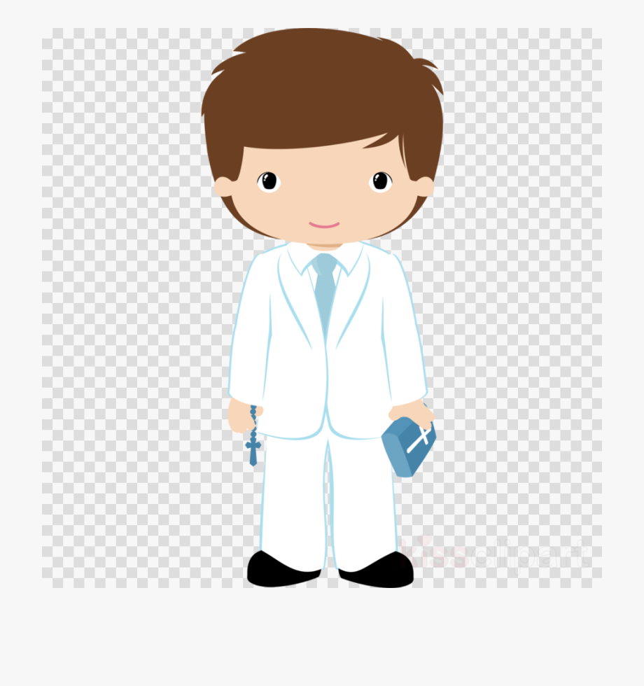 First communion boy clipart