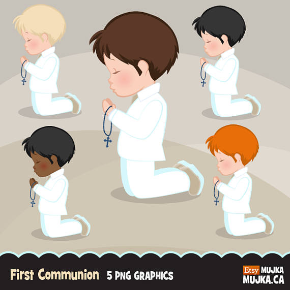 First communion boy clipart clip library stock First Communion Clipart for Boys. Characters, graphics, praying boys ... clip library stock