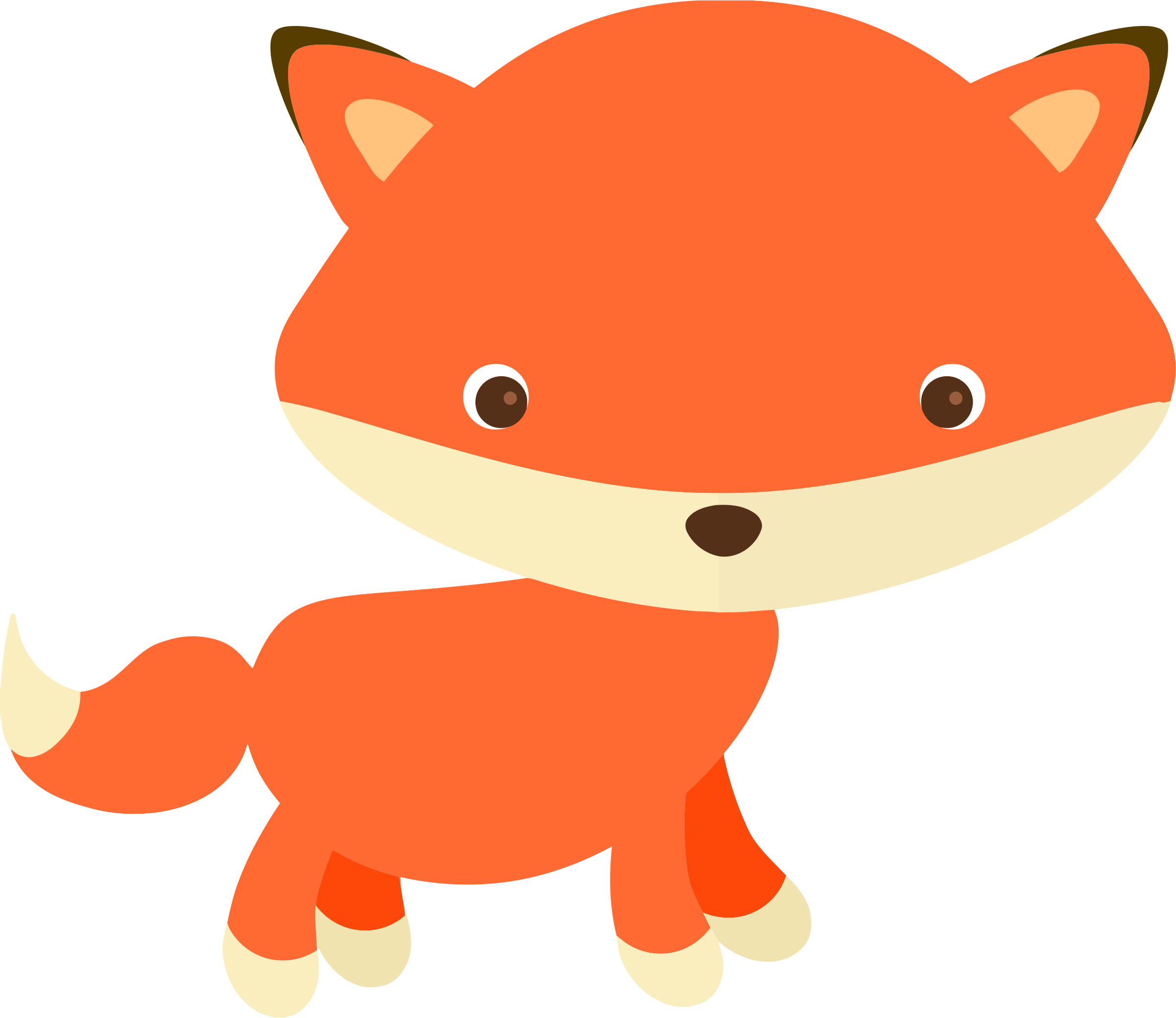 Boy fox clipart jpg royalty free library Cute Fox by @KBJ-77, A little fox I made for a Clipart set of mine ... jpg royalty free library