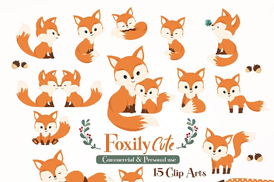 Clipart fox pictures banner royalty free library Cute fox clipart Baby Fox, Mommy fox banner royalty free library
