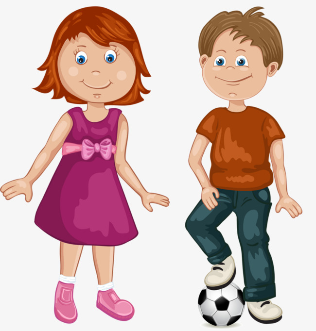 Clipart girl boy image freeuse download Girls And Boys Play Football Boy Girl PNG Image Clipart For Detail ... image freeuse download