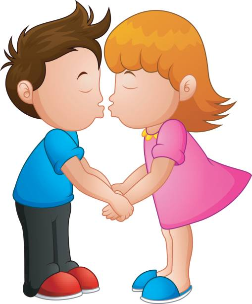 Boy girl kissing clipart svg royalty free Kissing Clipart | Free download best Kissing Clipart on ClipArtMag.com svg royalty free