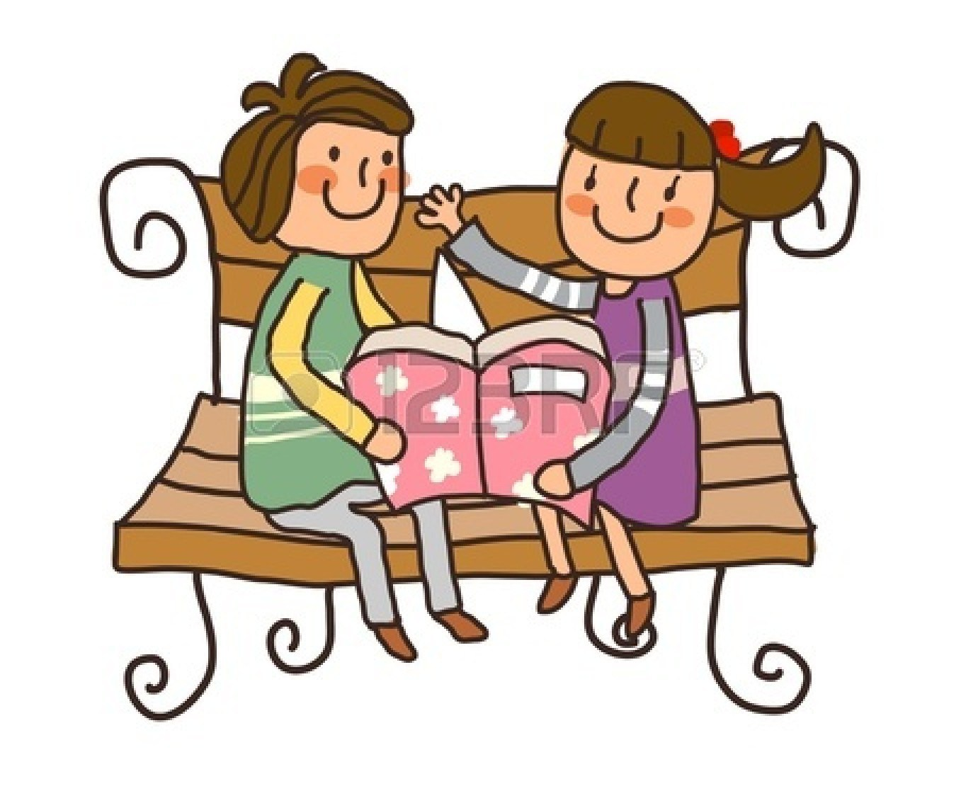 Boy girl reading clipart clipart royalty free download Boy and girl reading clipart 1 » Clipart Portal clipart royalty free download