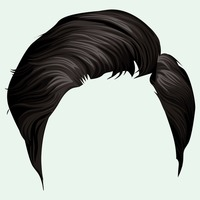 Boy hair style clipart graphic black and white Hair Hairs Style Styles Face Faces Boy Boys Human People Person Male ... graphic black and white