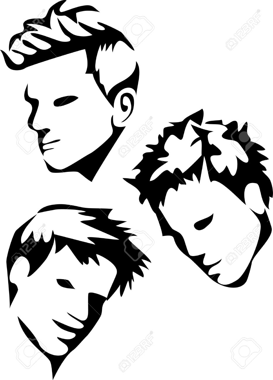 Boys hair style clipart svg black and white download Hairstyles Clipart | Free download best Hairstyles Clipart on ... svg black and white download