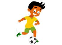 Kicking ball clipart