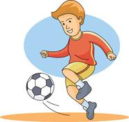 Boy hitting ball clipart image transparent stock boy playing soccer. Hits: 486 | Clipart Panda - Free Clipart Images image transparent stock
