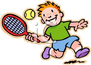 Tennis racket hitting ball clipart graphic royalty free library A Young Boy Hitting A Tennis | Clipart Panda - Free Clipart Images graphic royalty free library