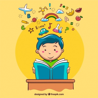 Boy holding head reading clipart vector black and white stock Reading Vectors, Photos and PSD files | Free Download vector black and white stock