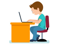 Library of boy on computer graphic library stock png files ...
