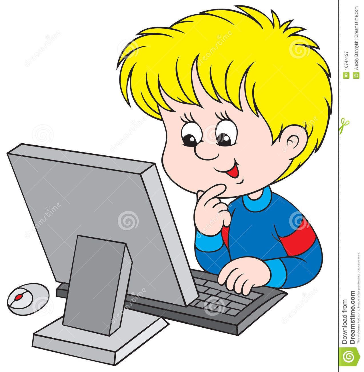 Boy in front of a computer clipart vector freeuse library Kid On Computer Clipart | Free download best Kid On Computer Clipart ... vector freeuse library