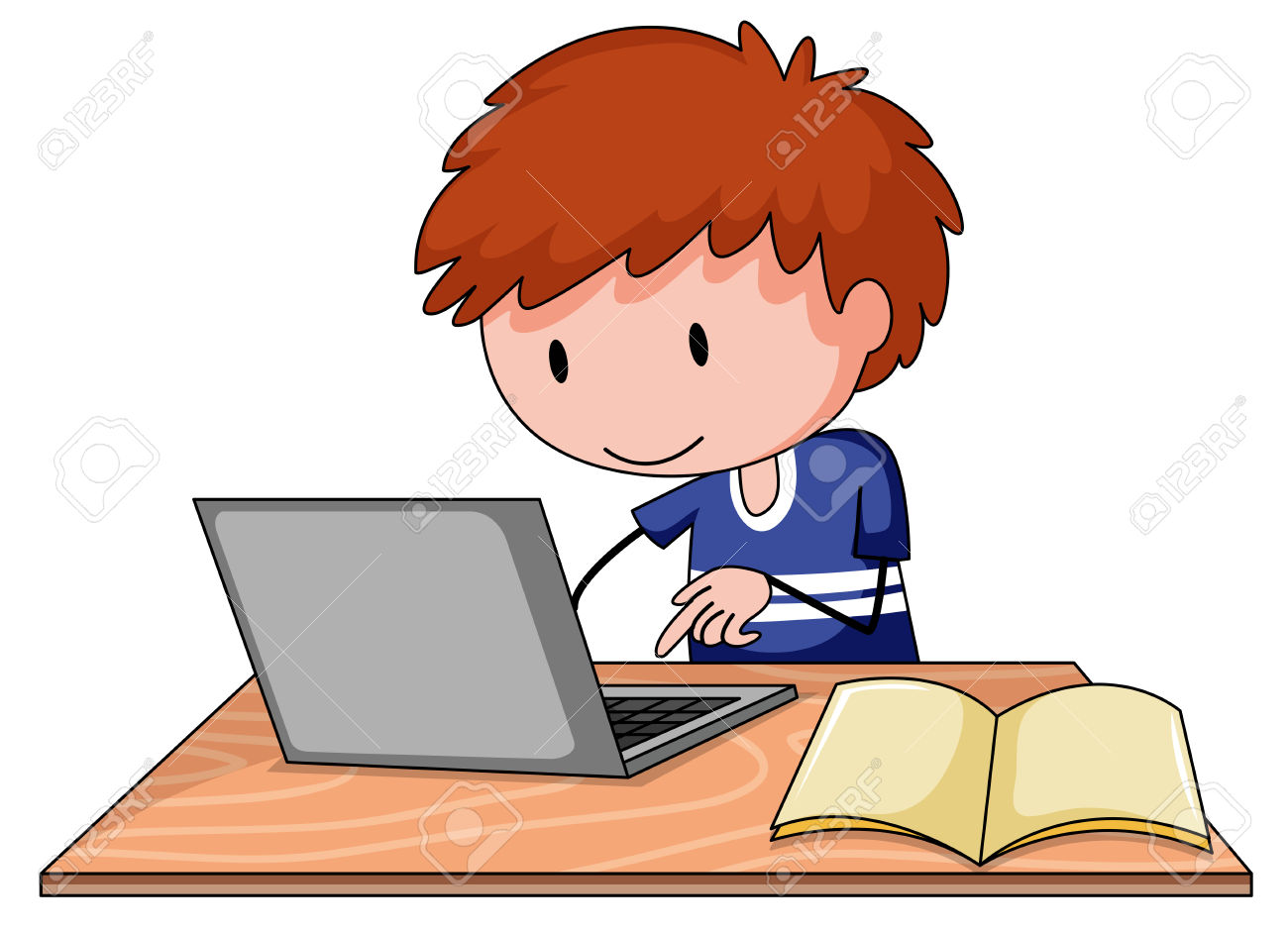 Boy in front of a computer clipart clip freeuse Kid On Computer Clipart | Free download best Kid On Computer Clipart ... clip freeuse