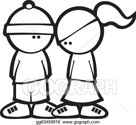 Boy meets girl clipart svg freeuse library EPS Illustration - Boy meets girl. Vector Clipart gg63459916 - GoGraph svg freeuse library