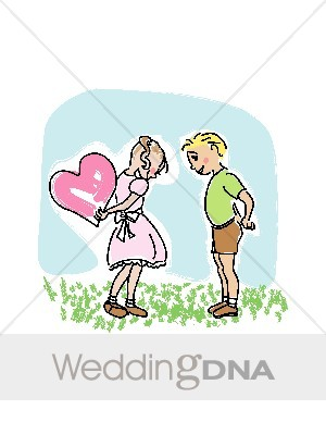 Boy meets girl clipart royalty free library Boy Meets Girl With Big Heart | Heart Scribbles royalty free library