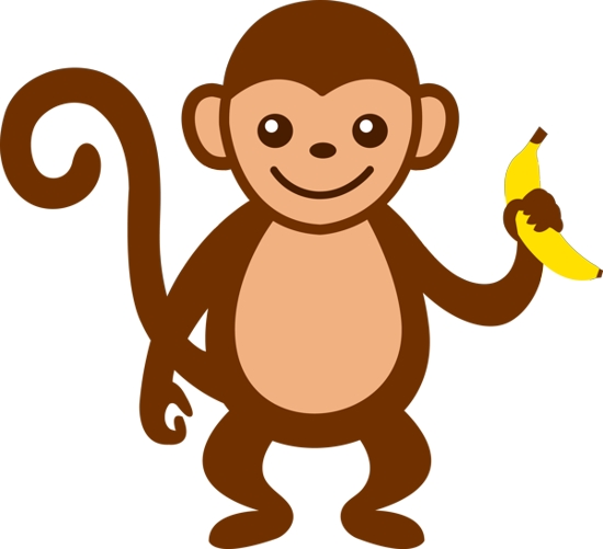 Free monkey clipart cartoon graphic freeuse Baby Boy Monkey Clip Art | Clipart library - Free Clipart Images ... graphic freeuse