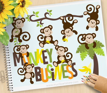 Boy monkey clipart image royalty free download Clipart - Monkey Business (Boy) image royalty free download