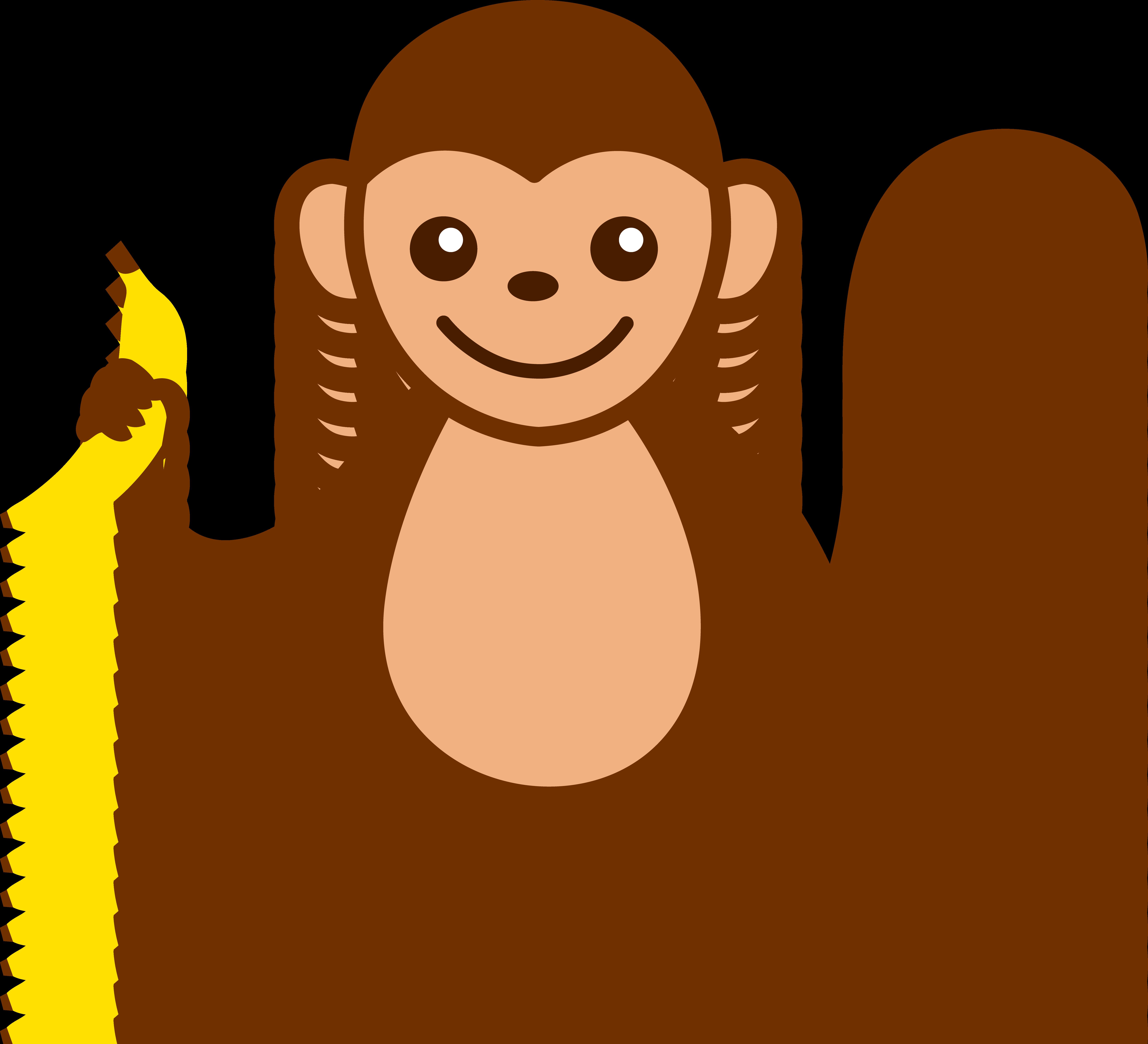 Free cute monkey clipart