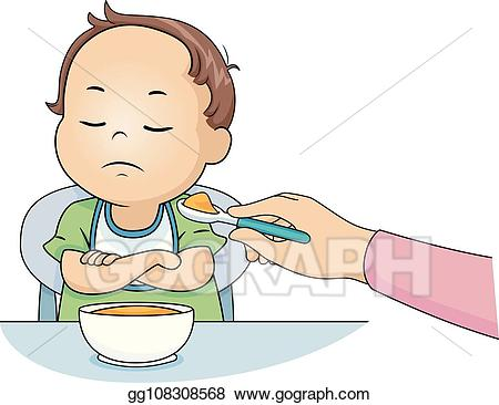 Boy not wanting to go to school clipart jpg royalty free library Clip Art Vector - Kid toddler boy dont want to eat illustration ... jpg royalty free library
