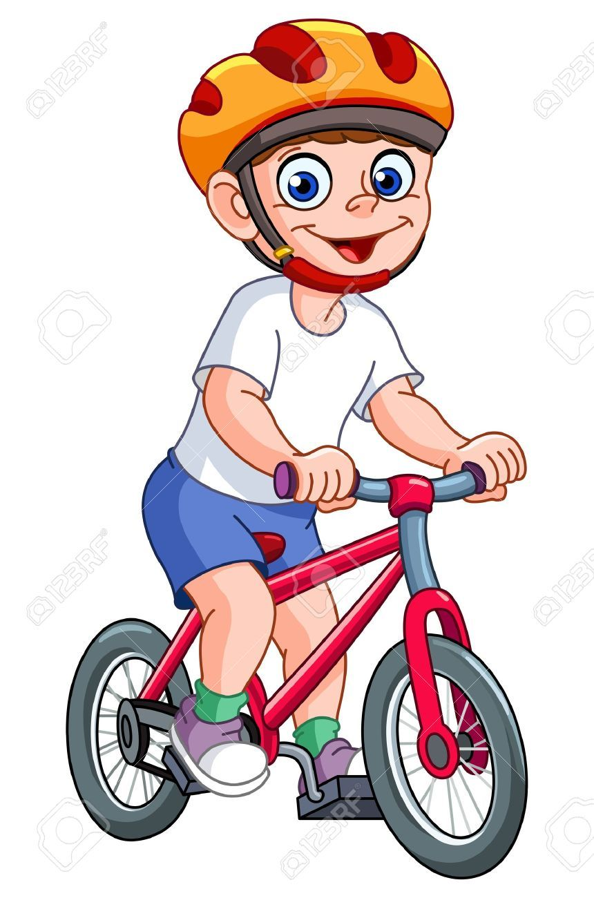 Boy on a bike clipart png black and white library Boy on a bike clipart 2 » Clipart Portal png black and white library